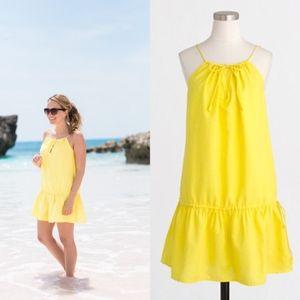 J Crew Drop Waist Drawstring Dress Cover Up Swim B